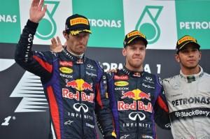 F1 2013 Malaysia GP Podium