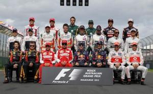 F1 2013 drivers line-up