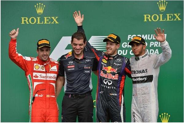 F1 2013 Canada GP Podium