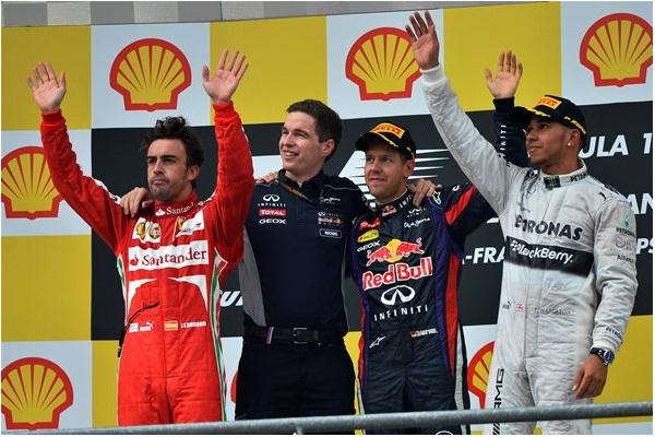 F1 2013 Belgian GP Podium