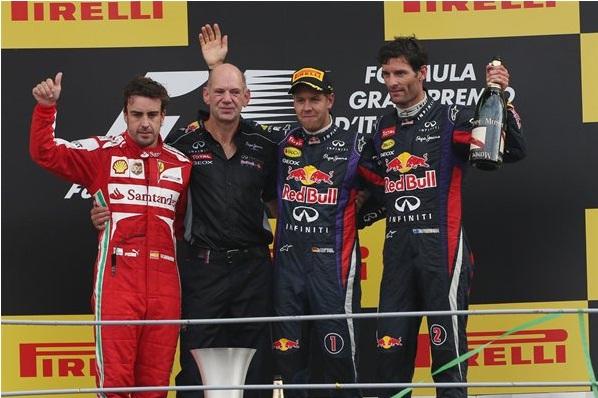 F1 2013 Italian GP Podium