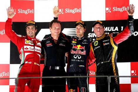 F1 2013 Singapore GP Podium