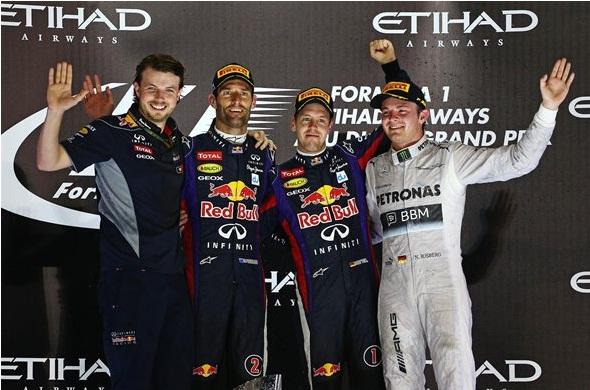 F1 2013 Abu Dhabi GP Podium
