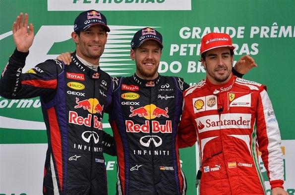 F1 2013 Brazil GP Podium