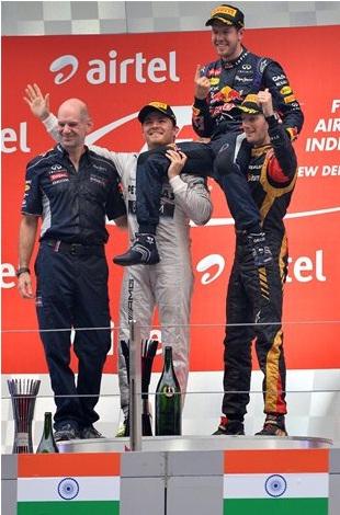 F1 2013 Indian GP Podium
