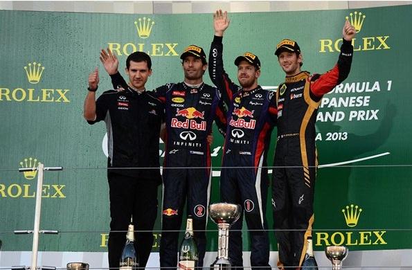 F1 2013 Japanese GP Podium