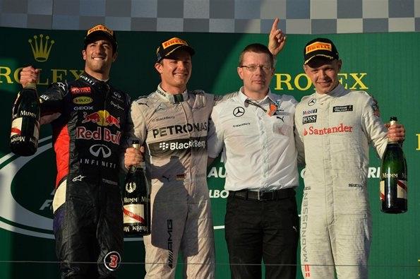 F1 2014 Australian GP Podium