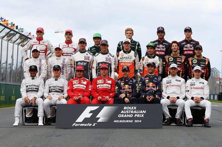 F1 2014 drivers line-up