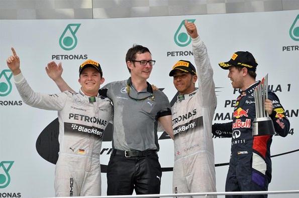 F1 2014 Malaysian GP Podium