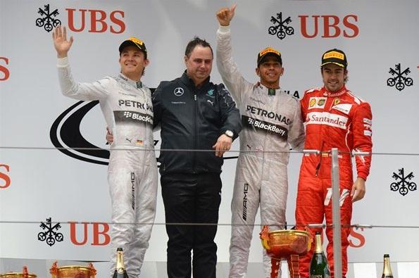 F1 2014 Chinese GP Podium