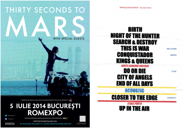 Afis & Setlist 30 Seconds to Mars