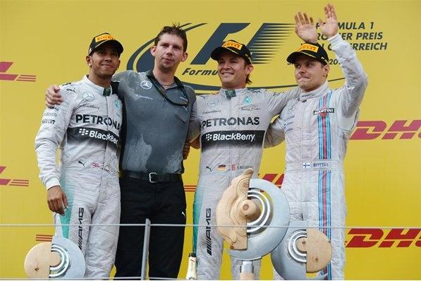 F1 2014 Austrian GP Podium