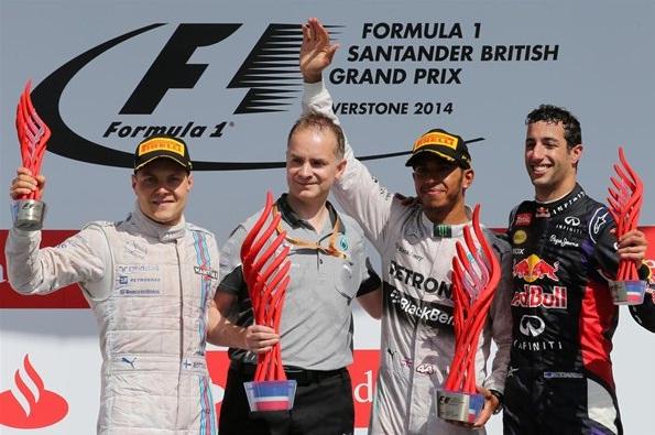 F1 2014 British GP Podium