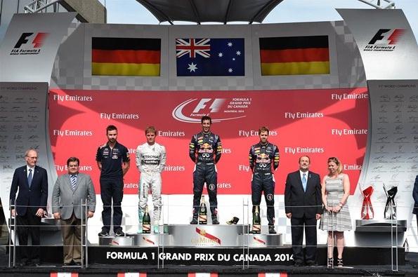 F1 2014 Canadian GP Podium