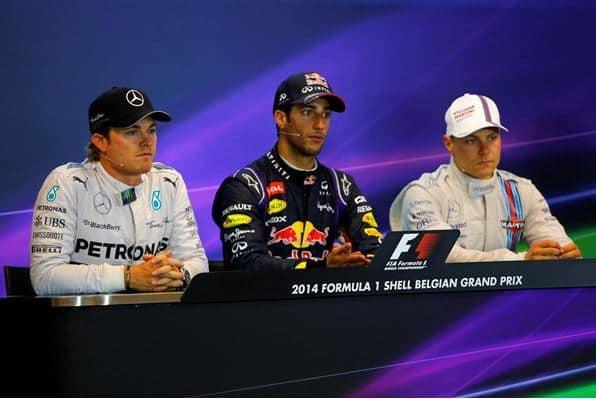 F1 2014 Belgian GP Podium