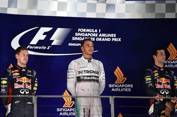 F1 2014 Singapore GP Podium