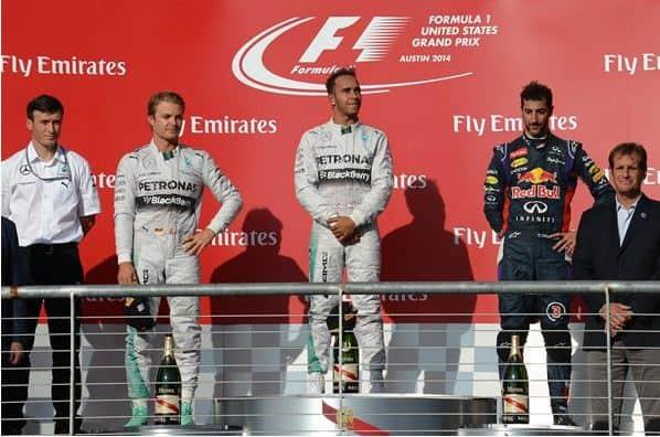 F1 2014 USA GP Podium